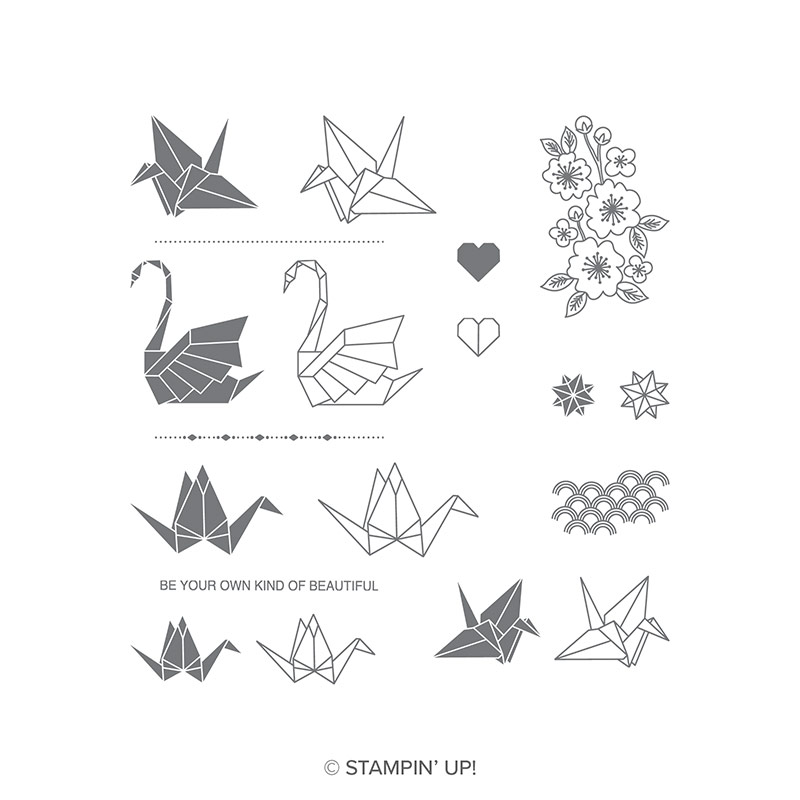 Artfully Folded Photopolymer Stamp Set 19 qty #146806 Price: $10.00