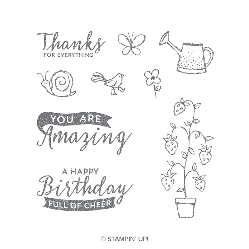 Springtime Stroll Clear-Mount Stamp Set qty 9 #146795 Price: $12.00   Springtime Stroll Wood-Mount Stamp Set qty 9 #146792 Price: $17.00